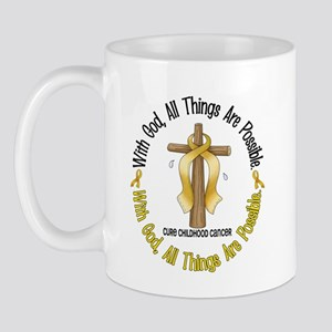 With God Cross CHILD CANCER Mug