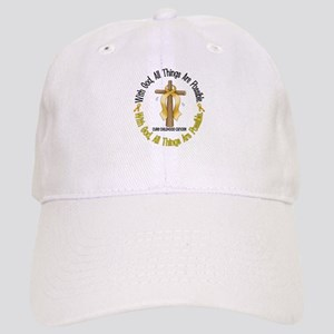With God Cross CHILD CANCER Cap
