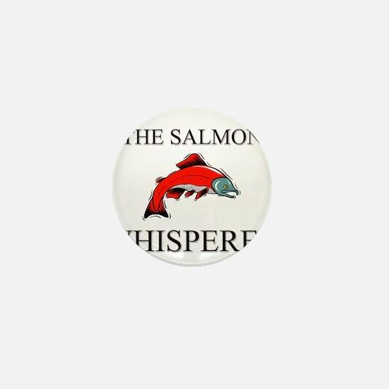 The Salmon Whisperer Mini Button
