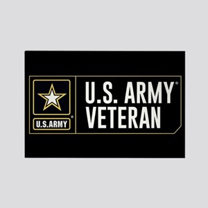 U.S. Army Veteran Logo Rectangle Magnet