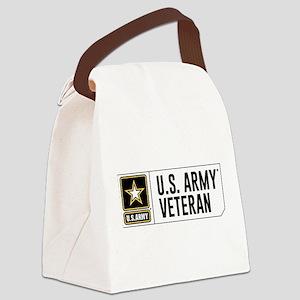 U.S. Army Veteran Logo Canvas Lunch Bag