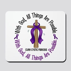 With God Cross Cystic Fibrosis Mousepad