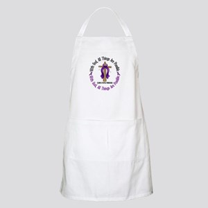 With God Cross Cystic Fibrosis BBQ Apron