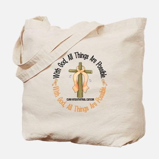 With God Cross ENDOCAN Tote Bag