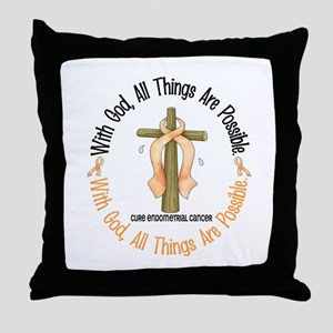 With God Cross ENDOCAN Throw Pillow