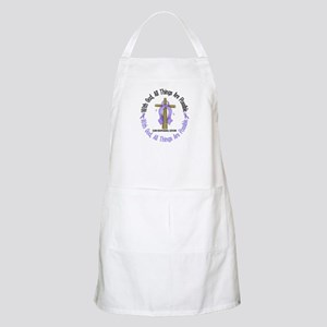With God Cross Esophageal Cancer Apron