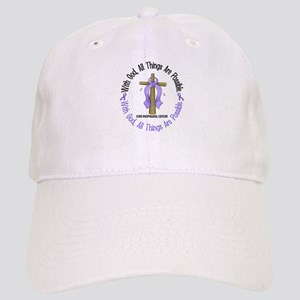With God Cross Esophageal Cancer Cap