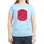 Chlorine - fuel for swimmers Women's Pink T-Shirt