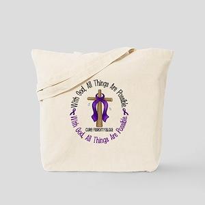 With God Cross Fibromyalgia Tote Bag