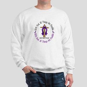With God Cross Fibromyalgia Sweatshirt