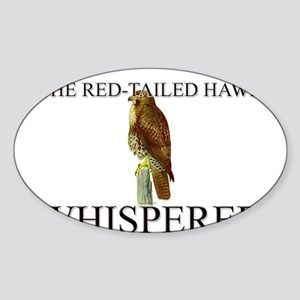 The Red-Tailed Hawk Whisperer Oval Sticker