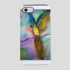 Blue/gold Macaw, parrot art! iPhone 7 Tough Case