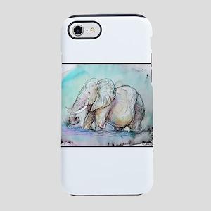 Elephant! Wildlife art! iPhone 7 Tough Case