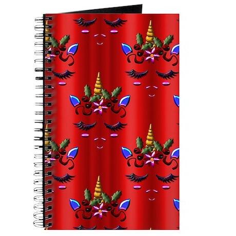 Red Unicorn Christmas Journal