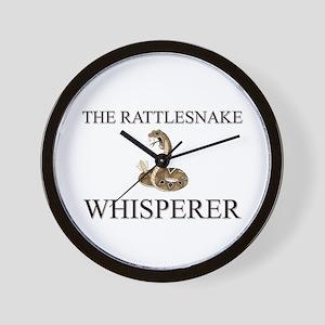 The Rattlesnake Whisperer Wall Clock