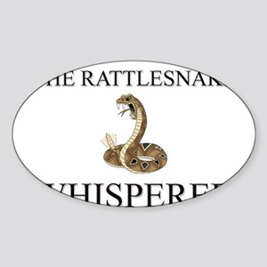 The Rattlesnake Whisperer Oval Sticker