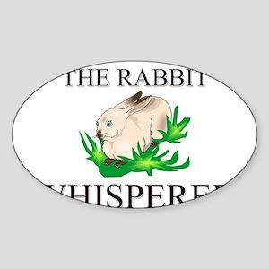 The Rabbit Whisperer Oval Sticker