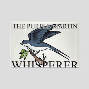 The Purple Martin Whisperer Rectangle Magnet