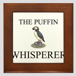 The Puffin Whisperer Framed Tile