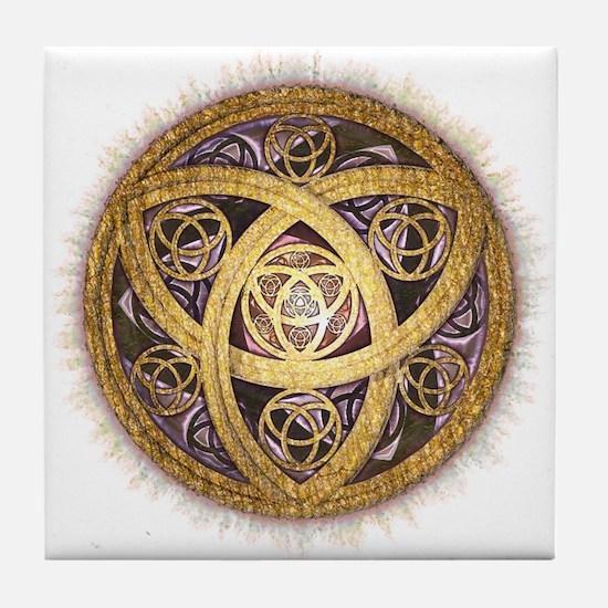 Celtic Sun Tile Coaster