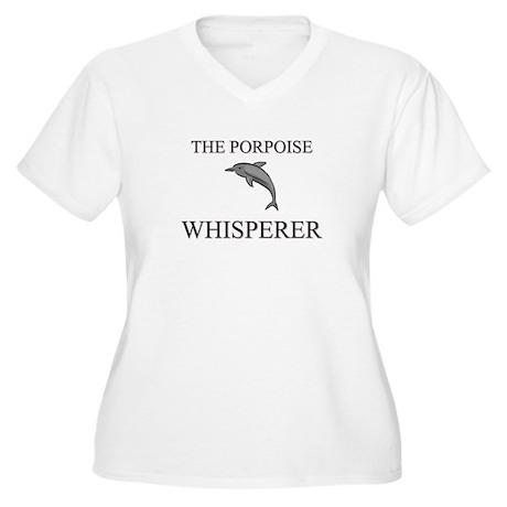 The Porpoise Whisperer Women's Plus Size V-Neck T-