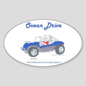 Catoons Oval Sticker