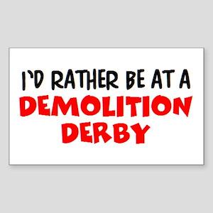 demolition derby Sticker (Rectangle)