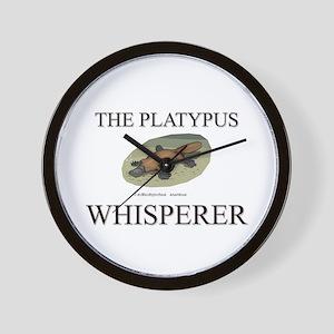 The Platypus Whisperer Wall Clock