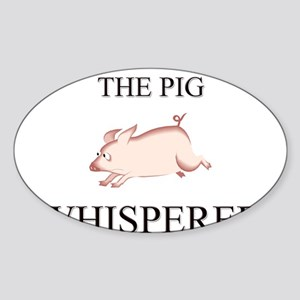 The Pig Whisperer Oval Sticker