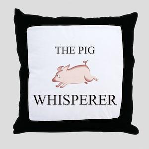 The Pig Whisperer Throw Pillow