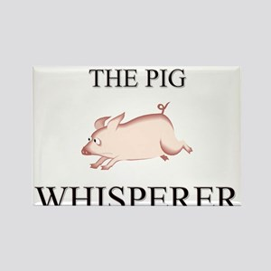 The Pig Whisperer Rectangle Magnet