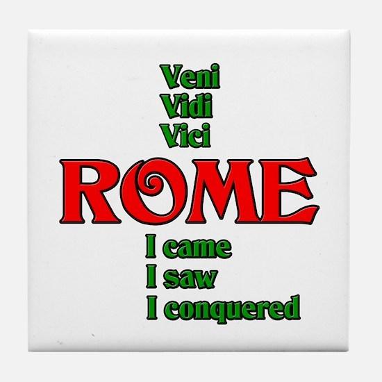 Veni Vidi Vici I came, I saw, I conquered Tile Coa