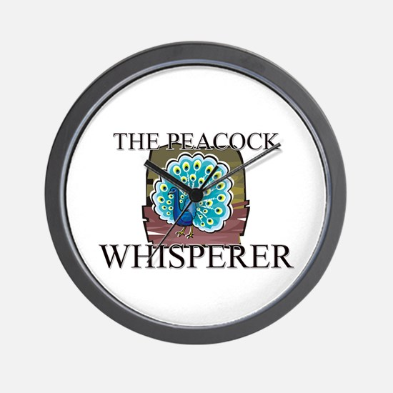 The Peacock Whisperer Wall Clock