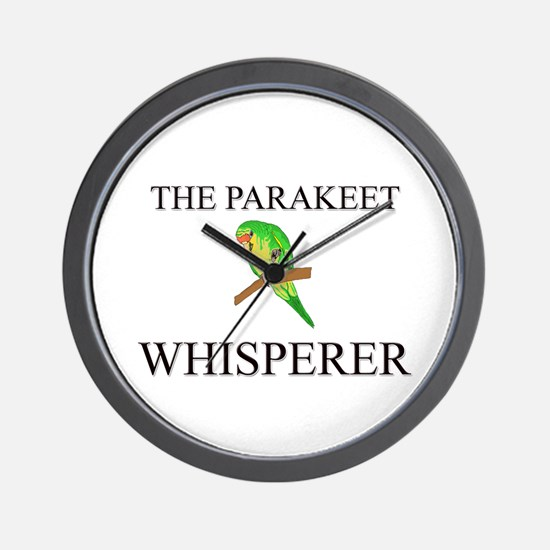 The Parakeet Whisperer Wall Clock