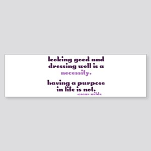 Dressing Well is a Necessity Bumper Sticker