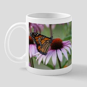 Monarch Butterfly on Coneflower Mug