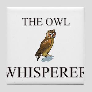 The Owl Whisperer Tile Coaster