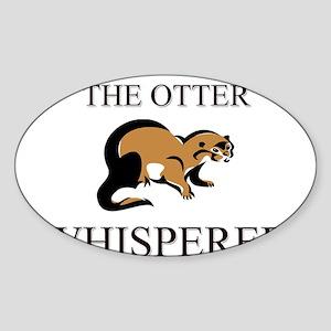 The Otter Whisperer Oval Sticker