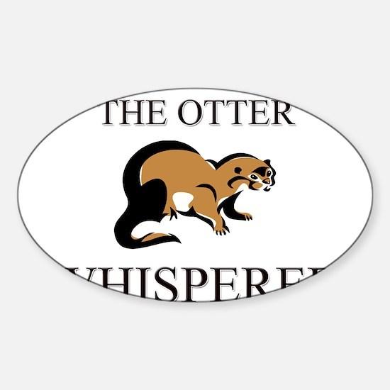 The Otter Whisperer Oval Decal