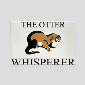 The Otter Whisperer Rectangle Magnet