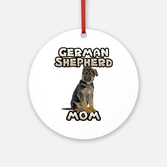 German Shepherd Mom Ornament (Round)