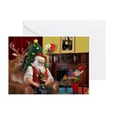 Christmas doberman Greeting Cards (10 Pack)