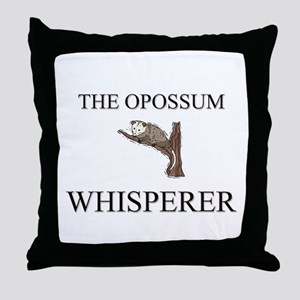 The Opossum Whisperer Throw Pillow