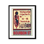 New Orleans Streets Framed Panel Print