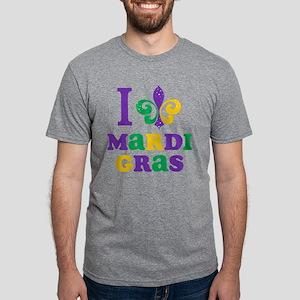 I Love Mardi Gras Mens Tri-blend T-Shirt