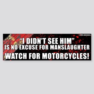 Black Manslaughter Bumper Sticker