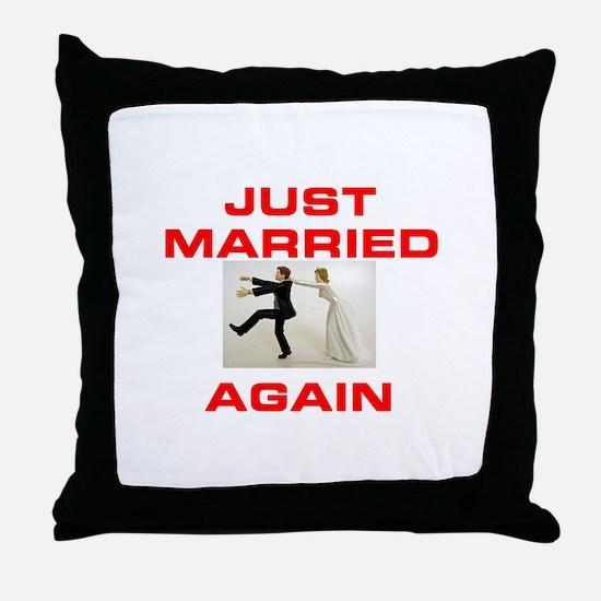 HERE I GO AGAIN! Throw Pillow