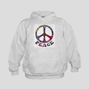 Jewelled Peace Symbol Kids Hoodie