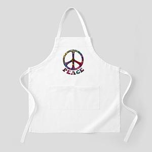 Jewelled Peace Symbol Apron
