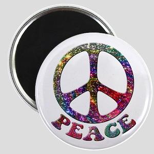 Jewelled Peace Symbol Magnet